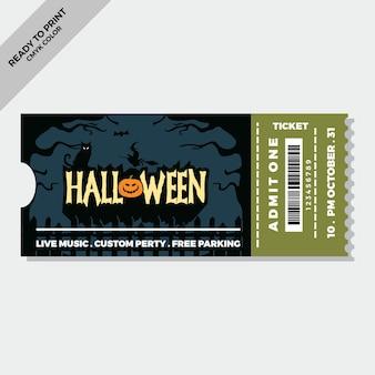 Flache halloween-tickets vorlage