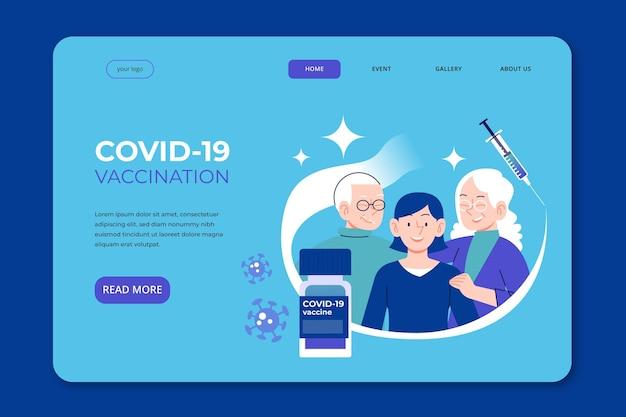 Flache hand gezeichnete coronavirus-impfstoff-landingpage