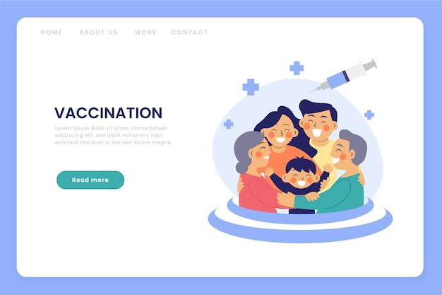 Flache hand gezeichnete coronavirus-impfstoff-webvorlage dargestellt