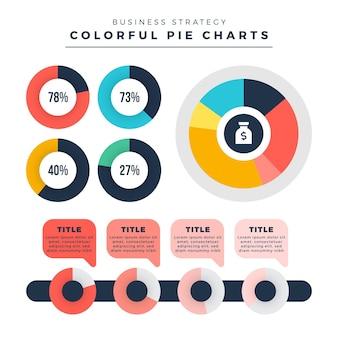 Flache harvey ball diagramme - infografik