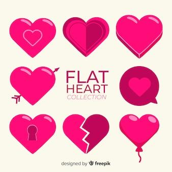 Flache Herzkollektion