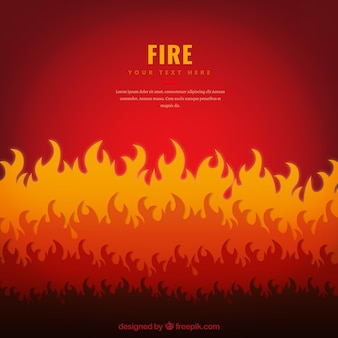 Flache hintergrund mit flammen in verschiedenen tönen
