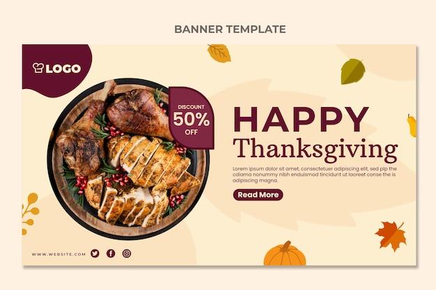 Flache horizontale thanksgiving-verkaufsfahne
