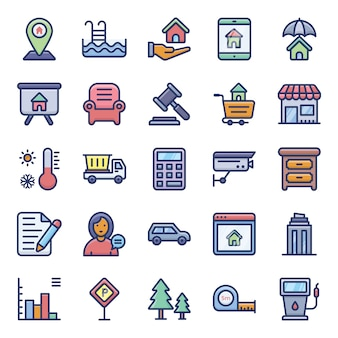 Flache icons pack