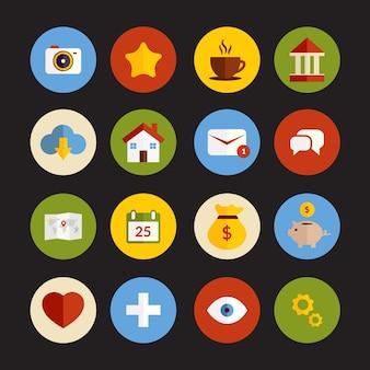 Flache icons sammlung
