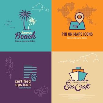 Flache ikone der palme