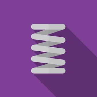 Flache ikonenillustration des autofrühlings lokalisierte vektorzeichensymbol