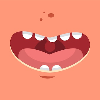 Flache illustration der lächelnvektorkarikatur.
