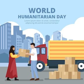 Flache illustration des humanitären welttages