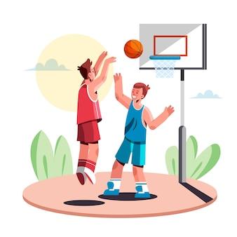 Flache illustration des kindersports