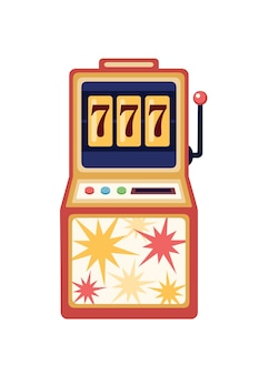 Flache illustration des spielautomaten.