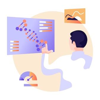 Flache illustration eines bearbeitbaren vektors des online-berichts