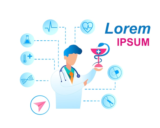 Flache illustrations-gesundheitspflege-doktor-beratung