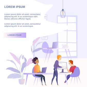 Flache illustrations-teamwork-gruppen-leute im büro