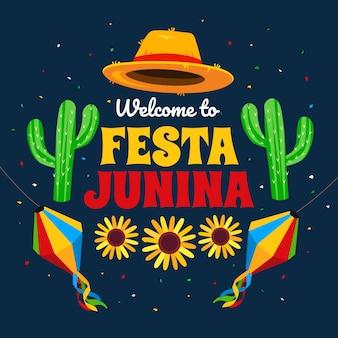 Flache illustrierte festa junina