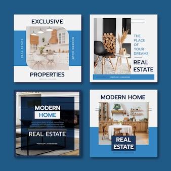 Flache immobilien instagram post vorlagen