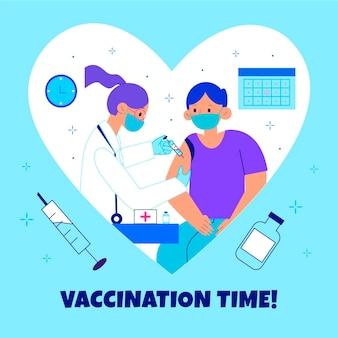 Flache impfkampagne