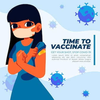 Flache impfkampagnenvorlage