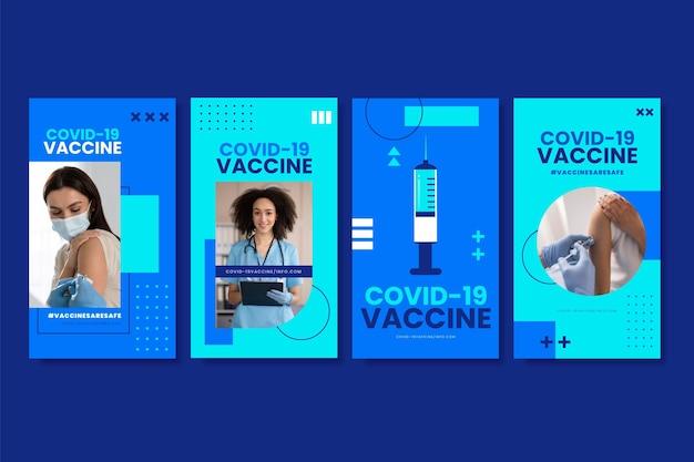 Flache impfstoff instagram geschichten sammlung mit fotos