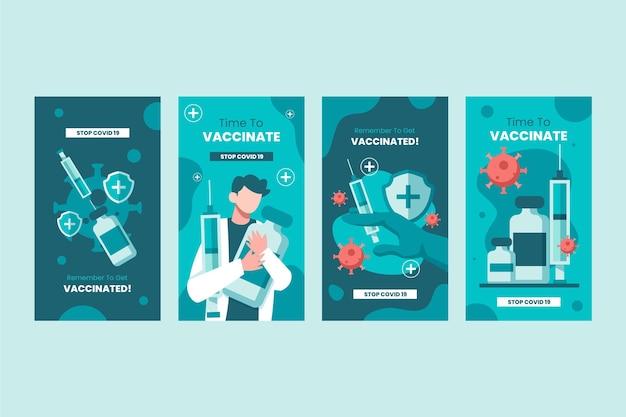 Flache impfstoff instagram geschichten sammlung