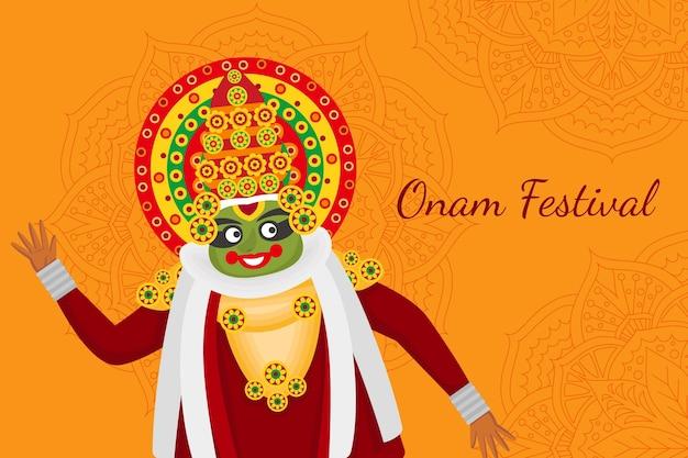 Flache indische onam-illustration