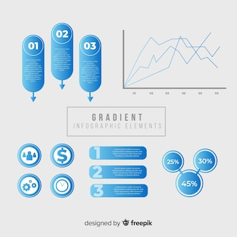 Flache infografik elemente sammlung