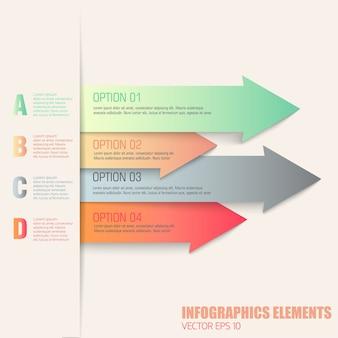 Flache infografik-elemente