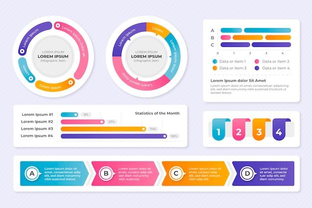 Flache infografik-elementsammlung