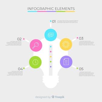 Flache infografik mit schritten