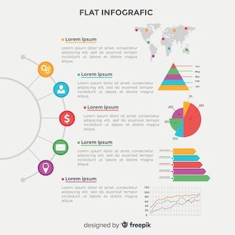 Flache infografik