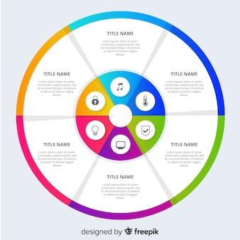 Flache infografiken hintergrund