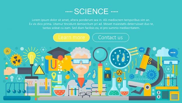 Flache infografiken vorlage für wissenschaftsforschung
