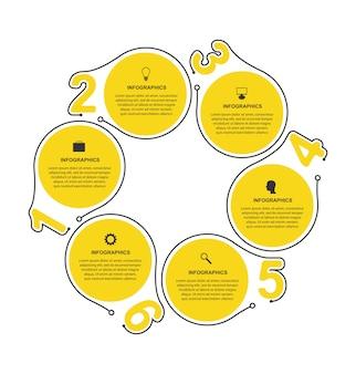 Flache infografiken vorlage.