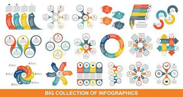 Flache infografiken.