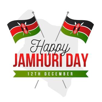 Flache jamhuri-tagesfeier