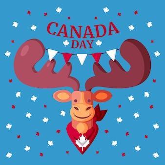 Flache kanada-tagesillustration