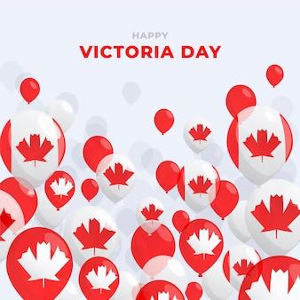 Flache kanadische victoria-tagesillustration