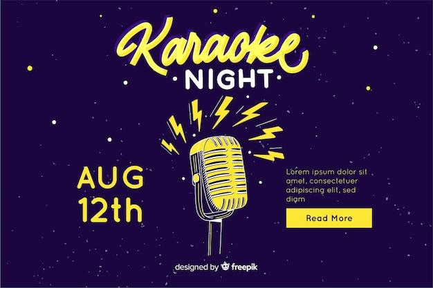 Flache karaoke party banner vorlage