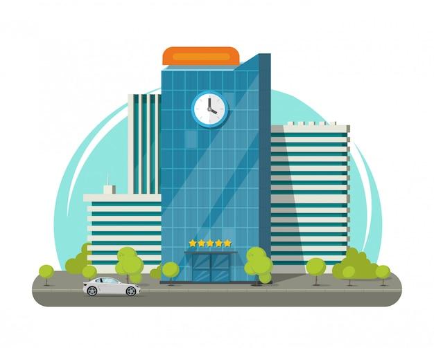 Flache karikatur des hochschul- oder modernen hochschulgebäudes