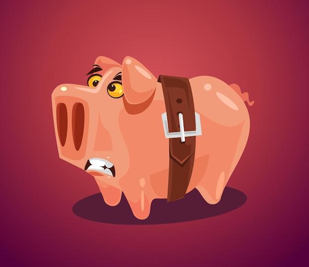 Flache karikaturillustration des konzepts des wirtschaftlichen niedergangs