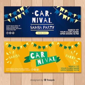 Flache karneval-banner