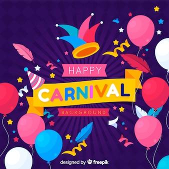 Flache karneval hintergrund