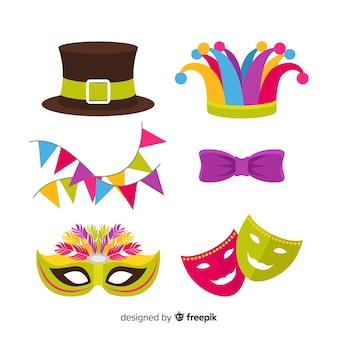 Flache karnevalselemente collectio
