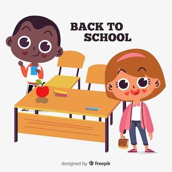 Flache kinder zurück in die schule
