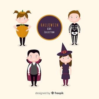 Flache kinderkostüme für halloween