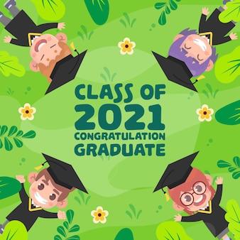 Flache klasse der illustration 2021
