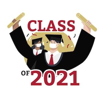 Flache klasse von 2021 abbildung