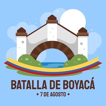 Flache kolumbianische batalla de boyaca illustration
