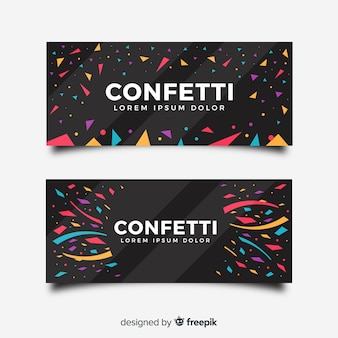 Flache konfetti-banner