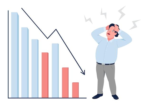 Flache konzeptillustration der finanzkrise